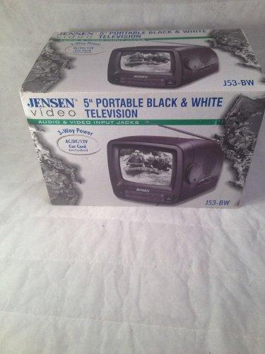 Jensen J53-BW 5 inch  B&W TV VHF/UHF Receiver - Electronic Tuning - free ship!