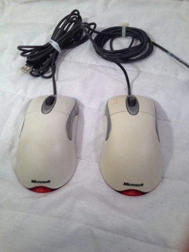 lot of (2) Microsoft X05-92654 IntelliMouse Optical USB & PS/2 Compatible
