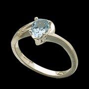 Genuine Pear Cut Aquamarine Ring