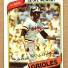 EDDIE MURRAY 1980 Topps Card #160 Baltimore Orioles FREE SHIPPING Baseball Vintage 160