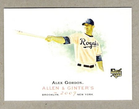 ALEX GORDON 2007 Topps Allen & Ginter ROOKIE Card #204 Kansas City Royals FREE SHIPPING