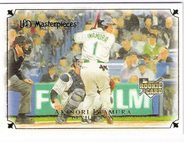 AKINORI IWAMURA 2007 UD Masterpieces ROOKIE Card #68 Tampa Bay Devil Rays FREE SHIPPING Upper Deck