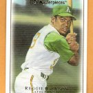REGGIE JACKSON 2007 UD Masterpieces Card #89 Oakland A's FREE SHIPPING 89