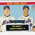 JOE SMITH & CARLOS GOMEZ 2007 Topps 52 RC Dynamic Duo INSERT ROOKIE Card # DD14 New York Mets