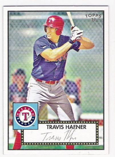 TRAVIS HAFNER 2007 Topps 52 Rookie Edition Debut Flashbacks INSERT Card # DF11 Texas Rangers