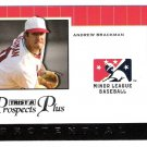 ANDREW BRACKMAN 2007 Tristar Prospects Plus Protential Insert ROOKIE Card # PT-AB NEW YORK YANKEES