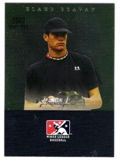 BLAKE BEAVAN 2007 Tristar Prospects Plus Draft Pick ROOKIE Card #73 Texas Rangers FREE SHIPPING