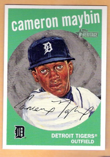 CAMERON MAYBIN 2008 Topps Heritage Dick Perez INSERT Card #HDP2 Detroit Tigers FREE SHIPPING