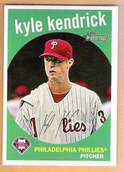 KYLE KENDRICK 2008 Topps Heritage SHORT PRINT Card #462 Philadelphia Phillies FREE SHIPPING