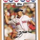 DAISUKE MATSUZAKA 2008 Topps Baseball Card #20 Boston Red Sox FREE SHIPPING
