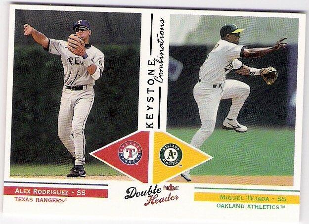 ALEX RODRIGUEZ & MIGUEL TEJADA 2003 Fleer Double Header Keystone Combinations INSERT Card # 9KC A's