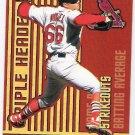 RICK ANKIEL 2000 Revolution Triple Header Holographic Gold ROOKIE Card #30 St Louis Cardinals #'d