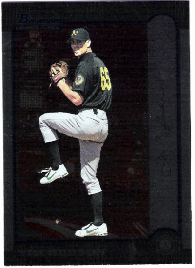 TIM HUDSON 1999 Bowman Rookie Card #375 Oakland A's FREE SHIPPING Baseball RC 375