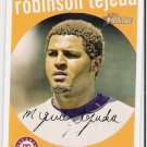 ROBIINSON TEJEDA 2008 Topps Heritage BLACK BACK Short Print Card #177 Texas Rangers FREE SHIPPING