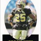 REGGIE BUSH 2007 Topps Turn Back the Clock INSERT Card #14 New Orleans Saints FREE SHIPPING