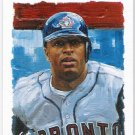 VERNON WELLS 2003 Playoff Portraits Silver INSERT Card #d 18/50 Toronto Blue Jays FREE SHIPPING