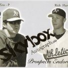 RICH HARDEN & BARRY ZITO 2004 Skybox Autographics Prospects Endorsed INSERT Card #12PE Oakland A's