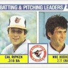 CAL RIPKEN JR 1984 Topps Team Leaders CL Baseball Card #426 Baltimore Orioles FREE SHIPPING