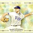 DAVID PRICE 2009 Topps Allen & Ginter Baseball Highlights Sketches INSERT Card AGHS21 Tampa Bay Rays