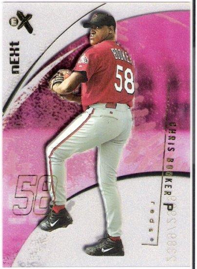 CHRIS BOOKER 2002 Fleer E-X Short Print ROOKIE Card #104 #d Cincinnati Reds FREE SHIPPING