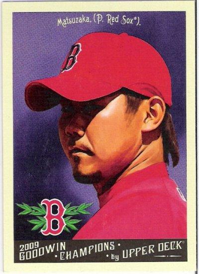 DAISUKE MATSUZAKA 2009 Upper Deck Goodwin Champions Baseball Card #93 Boston Red Sox FREE SHIPPING