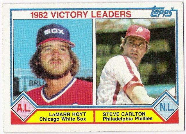STEVE CARLTON LAMARR HOYT 1983 Topps Leaders Baseball Card #705 Philadelphia Phillies FREE SHIPPING