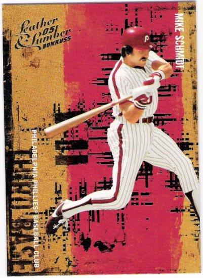 MIKE SCHMIDT 2005 Donruss Leather and Lumber SHORT PRINT Card #146 Philadelphia Phillies