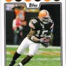 JOSHUA CRIBBS 2008 Topps Football Card #285 Cleveland Browns FREE SHIPPING 285