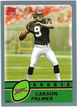 CARSON PALMER 2003 Topps ROOKIE Card #311 Cincinnati Bengals FREE SHIPPING
