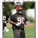 PAT SIMS 2008 Topps ROOKIE Card #396 Cincinnati Bengals FREE SHIPPING Auburn Tigers