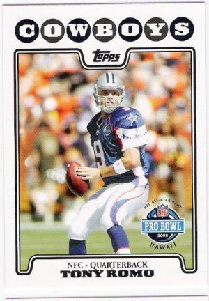 TONY ROMO 2008 Topps Pro Bowl Football Card #297 Dallas Cowboys FREE SHIPPING