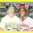 MARK MCGWIRE & ERIC DAVIS 1987 Classic Update Yellow Green Backs Instruction Card No # FREE SHIPPING