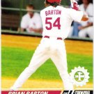 BRIAN BARTON 2008 Topps Stadium Club First Day Issue Parallel ROOKIE Card 130 St Louis Cardinals