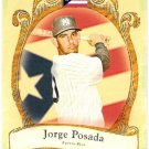 JORGE POSADA 2009 Topps Allen & Ginter National Pride INSERT Card #NP15 New York Yankees