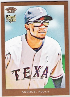 ELVIS ANDRUS 2009 Topps 206 Bronze Parallel ROOKIE Card #138 Texas Rangers FREE SHIPPING