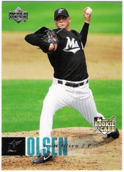 SCOTT OLSEN 2006 Upper Deck ROOKIE Card #933 Florida Marlins FREE SHIPPING Baseball RC 933 UD