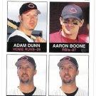 ADAM DUNN & AARON BOONE 2003 Fleer Tradition SHORT PRINT Card #8 Cincinnati Reds FREE SHIPPING