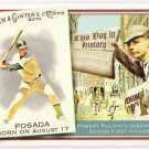 JORGE POSADA 2010 Topps Allen & Ginter This Day In History INSERT Card #TDH42 New York Yankees