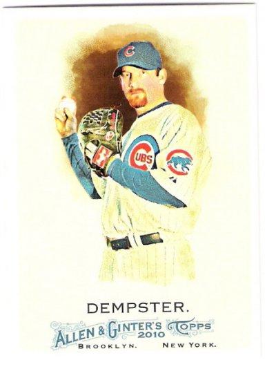 RYAN DEMPSTER 2010 Topps Allen & Ginter Card #258 Chicago Cubs FREE SHIPPING Baseball 258