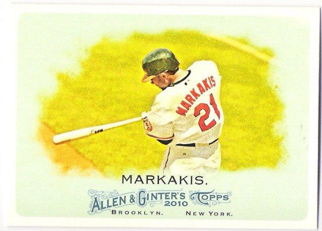NICK MARKAKIS 2010 Topps Allen & Ginter Card #274 Baltimore Orioles FREE SHIPPING Baseball 274