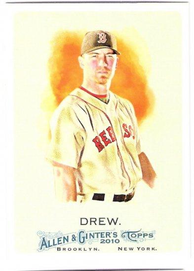 J.D. DREW 2010 Topps Allen & Ginter Card #206 Boston Red Sox FREE SHIPPING Baseball 206