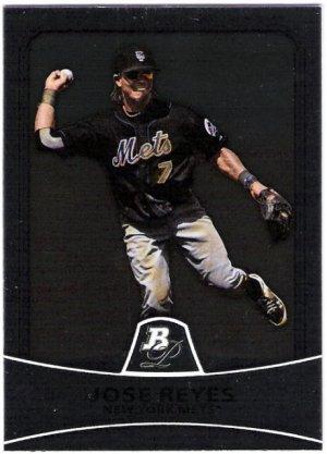JOSE REYES 2010 Bowman Platinum Card #56 New York Mets FREE SHIPPING Baseball 56