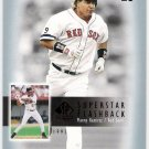 MANNY RAMIREZ 2003 SP Authentic Superstar Flashback INSERT Card #SF11 #d /2003 Boston Red Sox