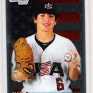 COLE BILLINGSLEY 2010 Bowman Draft Picks & Prospects CHROME 1st ROOKIE Card #BDPP58 Team USA