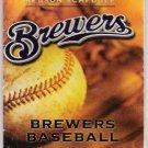 MILWAUKEE BREWERS 2000 Season Schedule Baseball County Stadium FREE SHIPPING Baseball 620 WTMJ