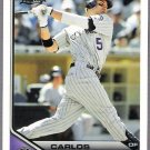 CARLOS GONZALEZ 2011 Topps Lineage Card #86 Colorado Rockies FREE SHIPPING 86 Baseball