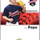 VAN POPE 2008 Tristar Projections ROOKIE Card #207 Atlanta Braves FREE SHIPPING Mississippi Braves