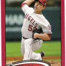 TYLER CHATWOOD 2012 Topps RED Border PARALLEL Card #317 Anaheim Los Angeles Angels FREE SHIPPING