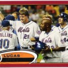 LUCAS DUDA 2012 Topps Red Border Parallel INSERT Card #128 New York Mets FREE SHIPPING Baseball