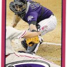 CHRIS IANNETTA 2012 Topps Red Border Parallel INSERT Card #21 Colorado Rockies FREE SHIPPING Target